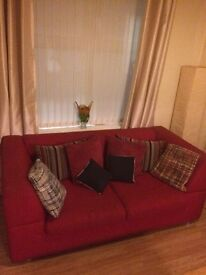 Sofa Bed & cushions . Quick sell. Moving soon