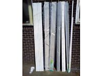 Square Edge Upvc Replacement Fascia Reveal Liner Cover - White - 300 x 16 x 2500mm