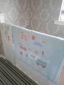 Cot bumper and quilt set
