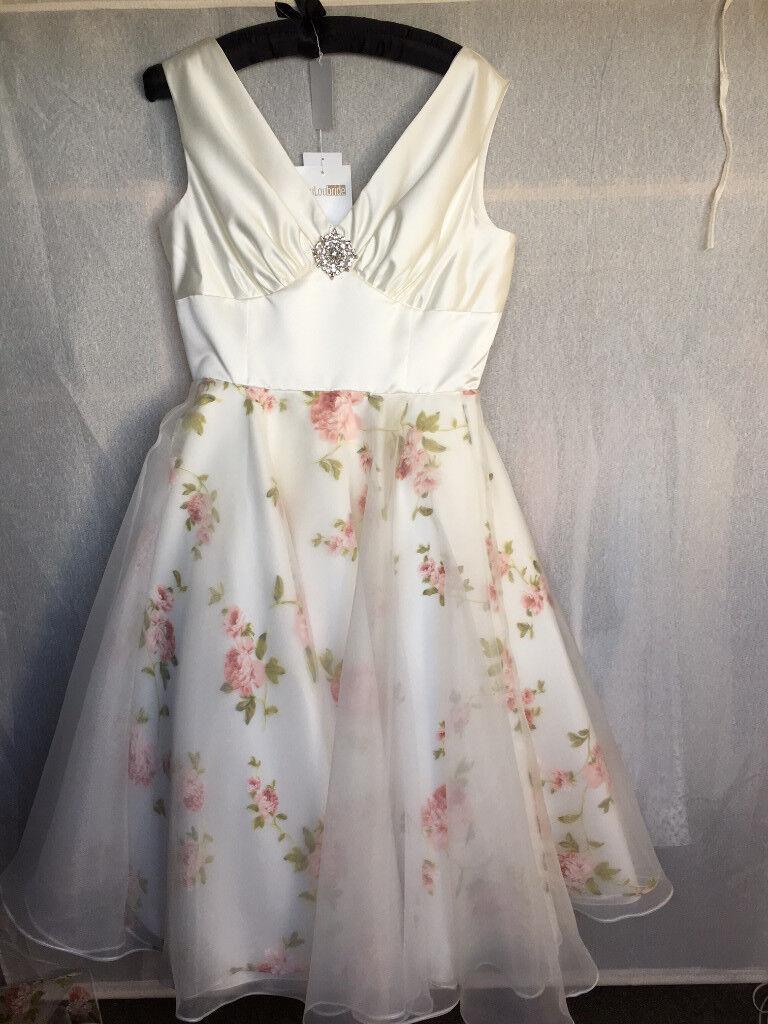 Bespoke and original tea length Wedding Dress
