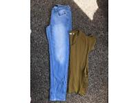 Size 8 NEXT jeans and top