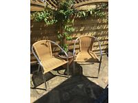2 GARDEN CHAIRS (bistro or patio chairs)