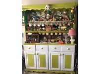 Large Farmhouse Dresser customised with Eggshell lime and white paint