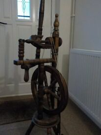 Spinning Wheel in dark wood finish
