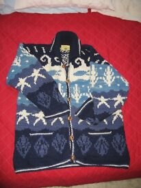 Women's Pachamama 100% Wool Handmade Cardigan