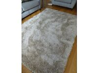 John Lewis Gloss Shaggy Rug - Oyster - 230 cm x 160 cm - Only 3 weeks of light Use - AS NEW