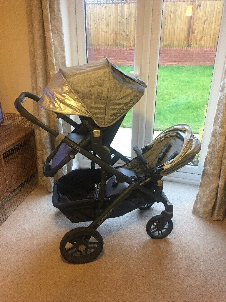 Uppababy Vista Twin From John Lewis with rumble seats ...