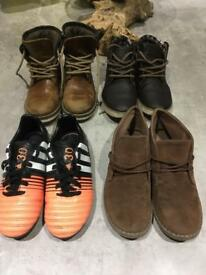 Boys 4x shoes size 13, River island, Adidas and Primark