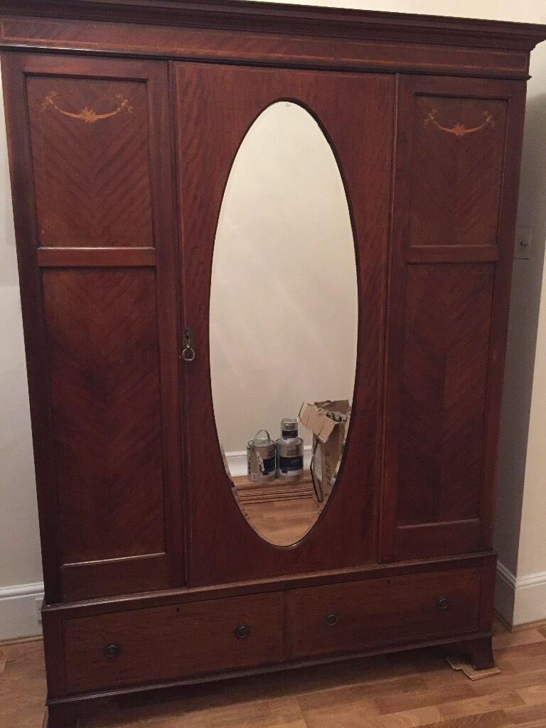Antique wardrobe for sale. Bargain! £65 collection from vendor only.