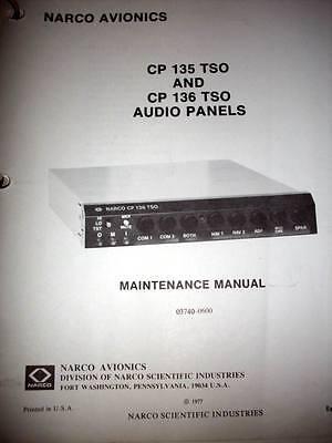 Narco CP 135 & CP 136 Audio Service Manual