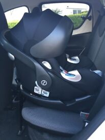 CYBEX Platinum Aton Q I-Size Compliant Baby Car Seat - Black and Cybex Q Fix car seat base. RRP £310