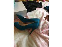 Beautiful teal high heels