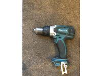Makita DHP458 LXT 18v 2 Speed Cordless Combi Hammer Drill.