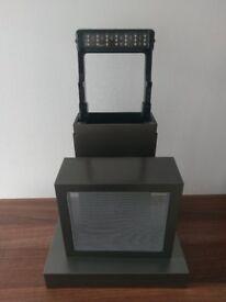 Fluval EDGE 23L Replacement Rear Column, Hood, LED Light & Base in Pewter