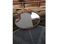 Shabby Chic Vintage Oval Bow Mirror
