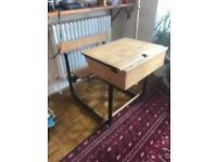 Vintage Children's School fliptop desk