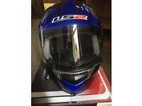 Blue Motorbike Helmet For Sale