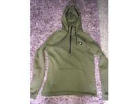 Nike khaki hoodie size m