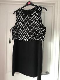 Black spotty dress