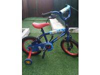 """Silverfox sonic the hedgehog 14"""" kids bike with stabilizer"""