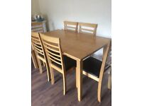 Dining Table and 6 Chairs for Sale £60 - in great condition
