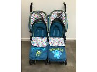 O baby double stroller like new
