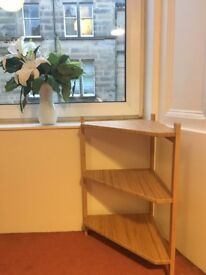 IKEA Corner bamboo shelf