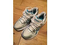 Ladies blue and white Asics running trainers uk 4.5 EUR 37.5