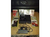 Xbox 360 250gb wireless controller power cables an games bundle