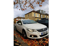 VW PASSAT CC GT --WHITE-TOP CONDITION-PCO-UBER READY-LOW MILAGE-FULL SERVICE HISTORY--2 KEYS