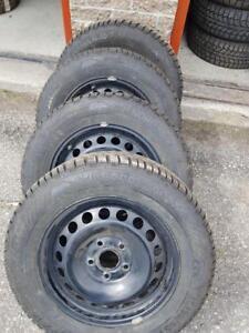 195/65/15 4 pneu hivers 10/32  avec rim 5×112( volks)