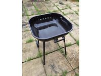 Charcoal barbeque smoker, with outdoor cover and wheels, used only once!!