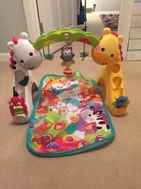 Fisherprice play gym jungle theme in good condition