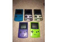 Selection of Nintendo gameboy Colors