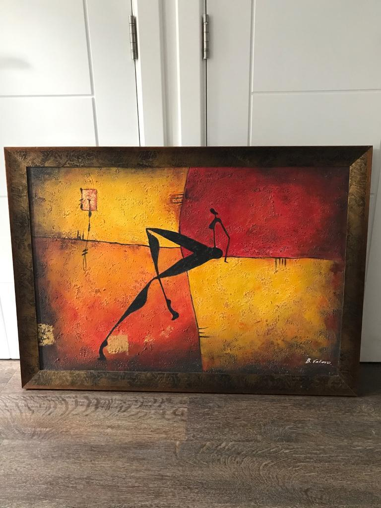 Large framed painting - 102 x 73cm