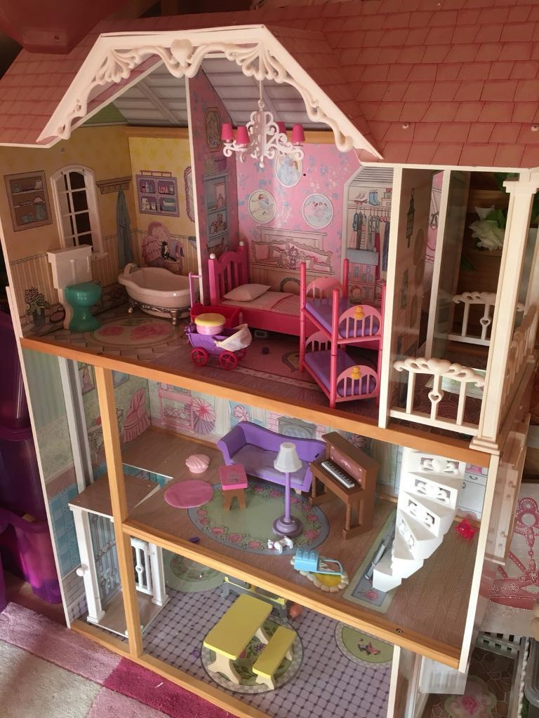 Very Large Barbie Dolls House With Furniture In Sunderland Tyne And