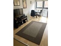 Dark and Light Grey 7 x 5 Rug for sale, From World Market.
