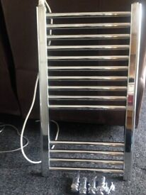 Small Chrome Low Wattage Towel Radiator