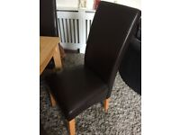 Table&4 brown comfy chairs, great condition