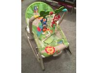 Baby and toddler rocker chair and booster seat