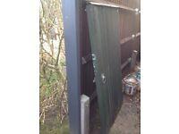 Featherboard garden gate