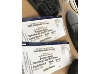 x2 Jack Whitehall 22nd July AMAZING SEATS
