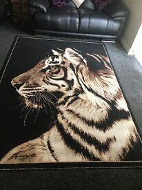 Large tiger rug