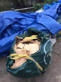 Firewood For Sale £5.00 Per Ton Bag