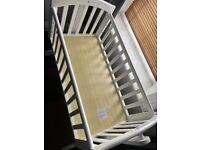 White rocking crib