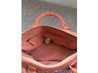 Genuine bright apricot Mulberry handbag