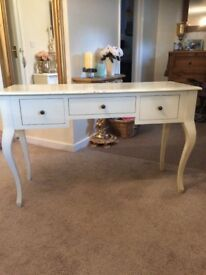 Laura Ashley 3 drawer cream Console / hall table