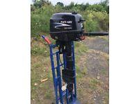 5 hp Parsun outboard 4 stroke Long shaft tiller boat engine F5BML hardly used!