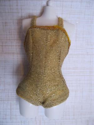 VINTAGE CLOTHES Mattel 1977 Fashion Photo PJ Barbie Doll GOLD SHIMMER Bodysuit