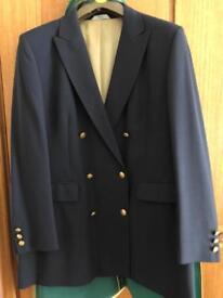 Vintage Marks & Spencer double breasted navy blazer.